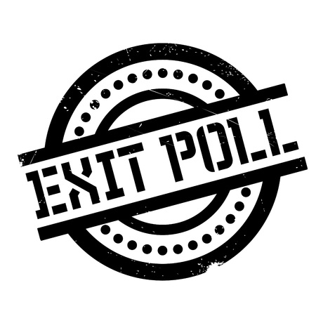 Exit Poll rubber stamp. Grunge design with dust scratches. Effects can be easily removed for a clean, crisp look. Color is easily changed.