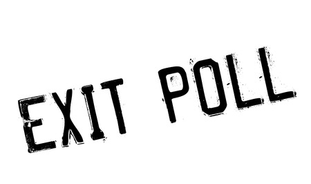 changed: Exit Poll rubber stamp. Grunge design with dust scratches. Effects can be easily removed for a clean, crisp look. Color is easily changed.