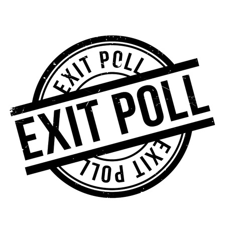 mayoral: Exit Poll rubber stamp. Grunge design with dust scratches. Effects can be easily removed for a clean, crisp look. Color is easily changed.