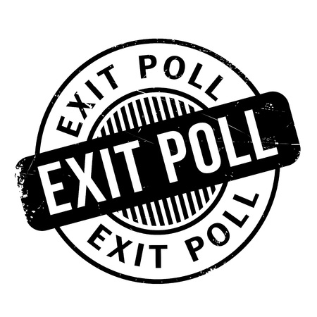 local elections: Exit Poll rubber stamp. Grunge design with dust scratches. Effects can be easily removed for a clean, crisp look. Color is easily changed.