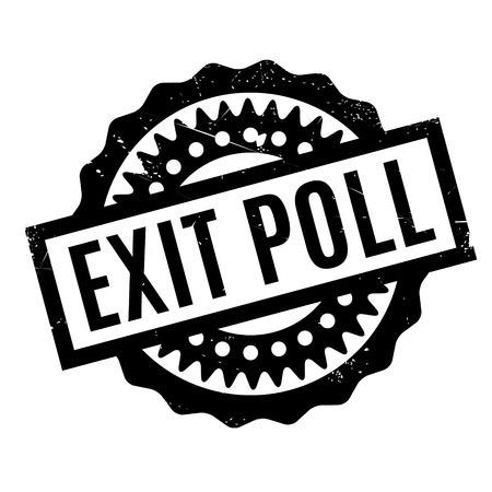 local council election: Exit Poll rubber stamp. Grunge design with dust scratches. Effects can be easily removed for a clean, crisp look. Color is easily changed.