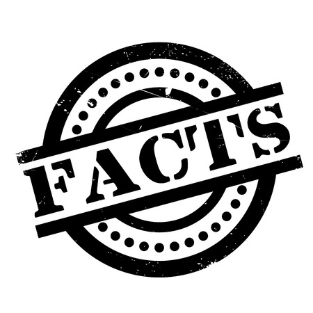 Facts rubber stamp. Grunge design with dust scratches. Effects can be easily removed for a clean, crisp look. Color is easily changed.