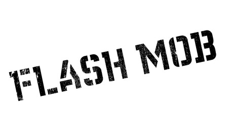 changed: Flash Mob rubber stamp. Grunge design with dust scratches. Effects can be easily removed for a clean, crisp look. Color is easily changed. Illustration