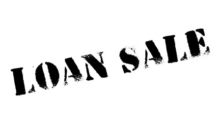 Loan Sale rubber stamp. Grunge design with dust scratches. Effects can be easily removed for a clean, crisp look. Color is easily changed.