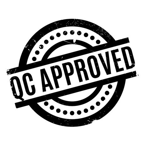 Qc Approved rubber stamp. Grunge design with dust scratches. Effects can be easily removed for a clean, crisp look. Color is easily changed.