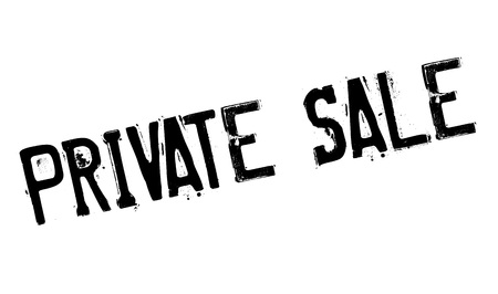 Private Sale rubber stamp. Grunge design with dust scratches. Effects can be easily removed for a clean, crisp look. Color is easily changed.