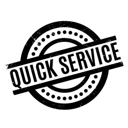 Quick Service rubber stamp. Grunge design with dust scratches. Effects can be easily removed for a clean, crisp look. Color is easily changed.