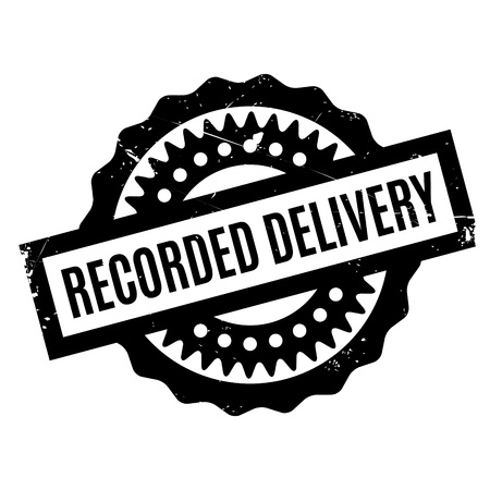 changed: Recorded Delivery rubber stamp. Grunge design with dust scratches. Effects can be easily removed for a clean, crisp look. Color is easily changed. Illustration