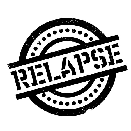 Relapse rubber stamp. Grunge design with dust scratches. Effects can be easily removed for a clean, crisp look. Color is easily changed. Illustration