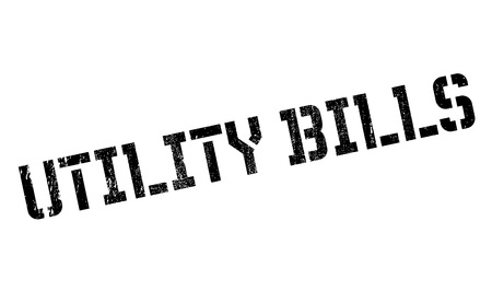 changed: Utility Bills rubber stamp. Grunge design with dust scratches. Effects can be easily removed for a clean, crisp look. Color is easily changed.