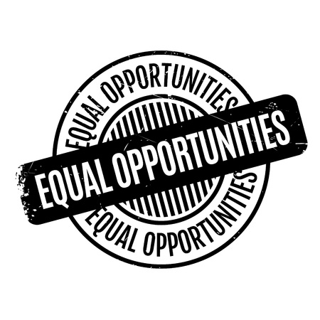 equal opportunity: Equal Opportunities rubber stamp. Grunge design with dust scratches. Effects can be easily removed for a clean, crisp look. Color is easily changed. Illustration