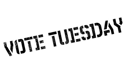 majority: Vote Tuesday rubber stamp. Grunge design with dust scratches. Effects can be easily removed for a clean, crisp look. Color is easily changed. Illustration