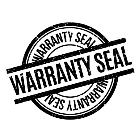 ratification: Warranty Seal rubber stamp. Grunge design with dust scratches. Effects can be easily removed for a clean, crisp look. Color is easily changed.