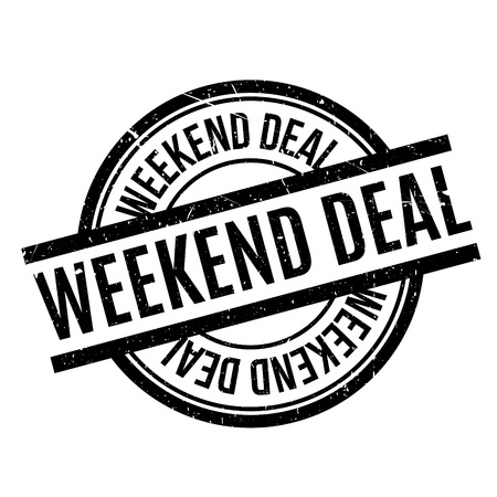 Weekend Deal rubber stamp. Grunge design with dust scratches. Effects can be easily removed for a clean, crisp look. Color is easily changed. Illustration