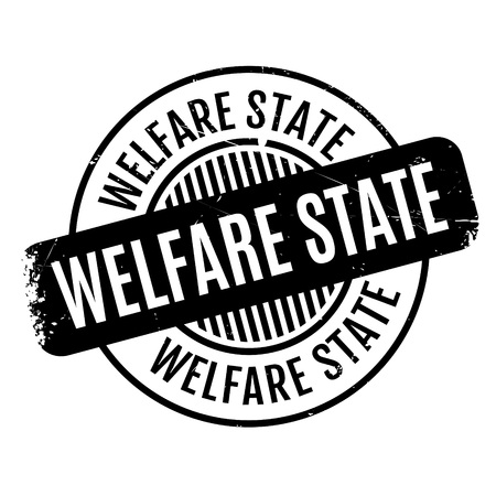 doctor money: Welfare State rubber stamp. Grunge design with dust scratches. Effects can be easily removed for a clean, crisp look. Color is easily changed.