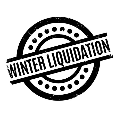 eradication: Winter Liquidation rubber stamp. Grunge design with dust scratches. Effects can be easily removed for a clean, crisp look. Color is easily changed. Illustration