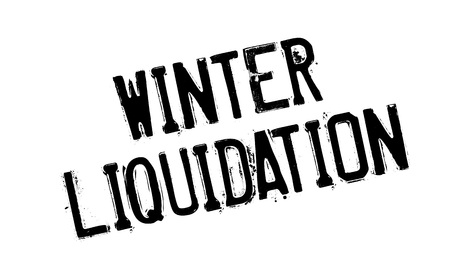 rejected: Winter Liquidation rubber stamp. Grunge design with dust scratches. Effects can be easily removed for a clean, crisp look. Color is easily changed. Illustration