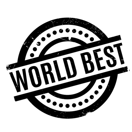 superlative: World Best rubber stamp. Grunge design with dust scratches. Effects can be easily removed for a clean, crisp look. Color is easily changed. Illustration