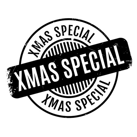 Navidad Sello de goma especial. Diseño de grunge con rasguños de polvo. Los efectos se pueden quitar fácilmente para un aspecto limpio y nítido. El color se cambia fácilmente. Ilustración de vector