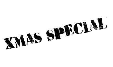 Xmas Speciale rubberen stempel. Grunge ontwerp met stof krassen. Effecten kunnen gemakkelijk worden verwijderd voor een schone, frisse uitstraling. Kleur is gemakkelijk te veranderen.