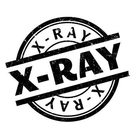 X-Ray rubber stamp. Grunge design with dust scratches. Effects can be easily removed for a clean, crisp look. Color is easily changed. Illustration