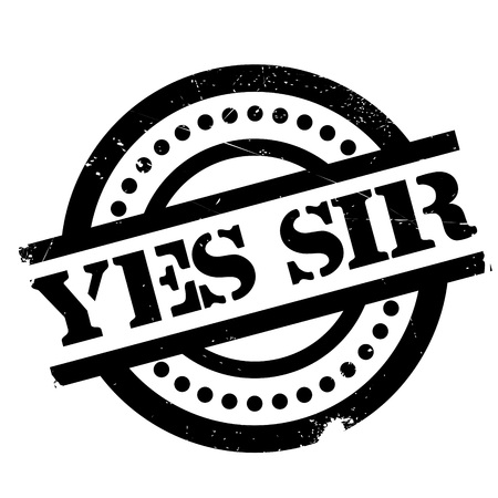 Yes Sir rubber stamp. Grunge design with dust scratches. Effects can be easily removed for a clean, crisp look. Color is easily changed.