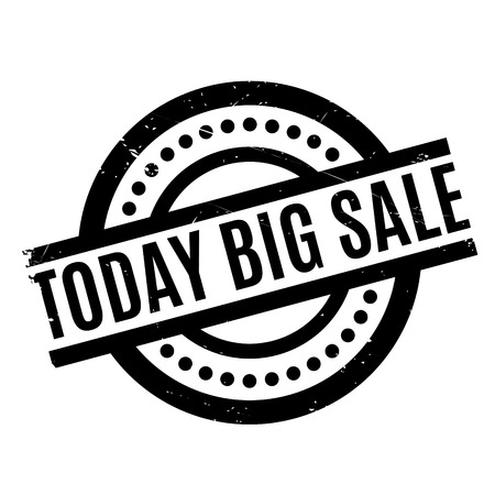 ample: Today Big Sale rubber stamp. Grunge design with dust scratches. Effects can be easily removed for a clean, crisp look. Color is easily changed.