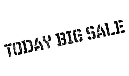 Today Big Sale rubber stamp. Grunge design with dust scratches. Effects can be easily removed for a clean, crisp look. Color is easily changed.