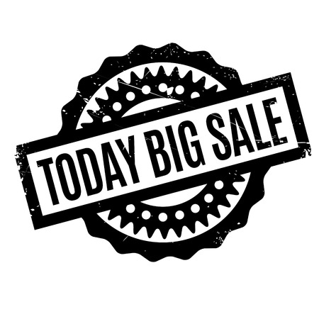 hefty: Today Big Sale rubber stamp. Grunge design with dust scratches. Effects can be easily removed for a clean, crisp look. Color is easily changed.
