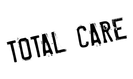 unrestricted: Total Care rubber stamp. Grunge design with dust scratches. Effects can be easily removed for a clean, crisp look. Color is easily changed. Illustration