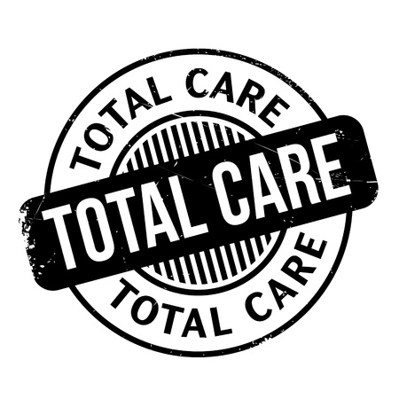 totalitarian: Total Care rubber stamp. Grunge design with dust scratches. Effects can be easily removed for a clean, crisp look. Color is easily changed. Illustration