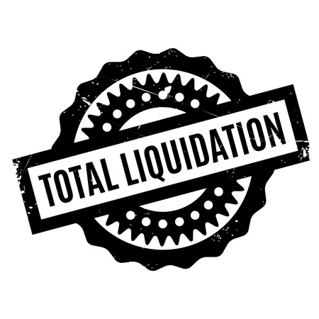 expulsion: Total Liquidation rubber stamp. Grunge design with dust scratches. Effects can be easily removed for a clean, crisp look. Color is easily changed.