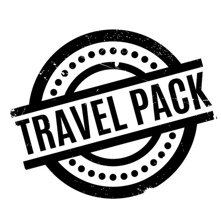 wandering: Travel Pack rubber stamp. Grunge design with dust scratches. Effects can be easily removed for a clean, crisp look. Color is easily changed.