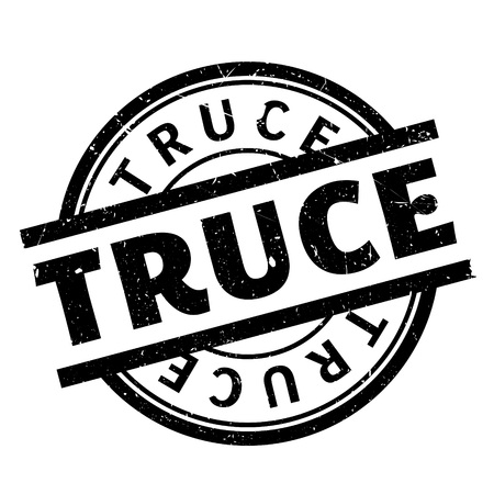weaponry: Truce rubber stamp. Grunge design with dust scratches. Effects can be easily removed for a clean, crisp look. Color is easily changed.