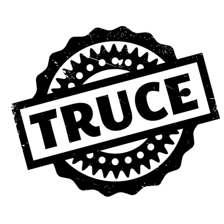 Truce rubber stamp. Grunge design with dust scratches. Effects can be easily removed for a clean, crisp look. Color is easily changed.