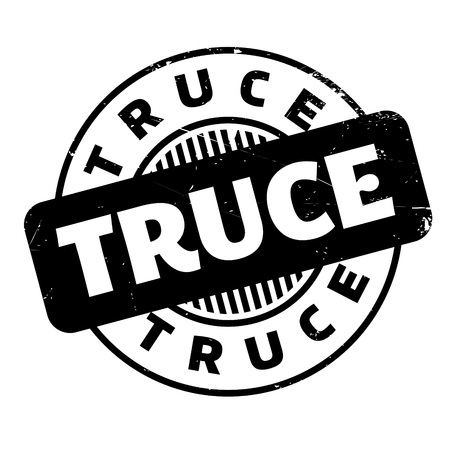 ceased: Truce rubber stamp. Grunge design with dust scratches. Effects can be easily removed for a clean, crisp look. Color is easily changed.