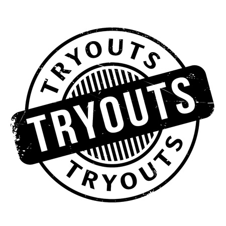 audition: Tryouts rubber stamp. Grunge design with dust scratches. Effects can be easily removed for a clean, crisp look. Color is easily changed.