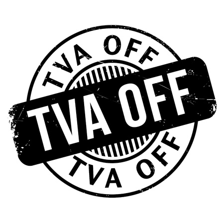 Tva Off rubber stamp. Grunge design with dust scratches. Effects can be easily removed for a clean, crisp look. Color is easily changed.