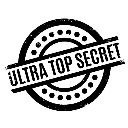 obscure: Ultra Top Secret rubber stamp. Grunge design with dust scratches. Effects can be easily removed for a clean, crisp look. Color is easily changed.