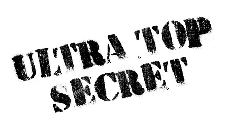 obscure: Ultra Top Secret rubber stamp with grunge design and dust scratches.