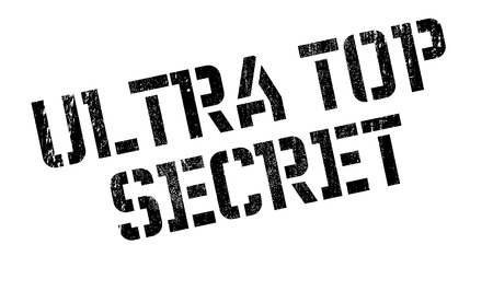 Ultra Top Secret rubber stamp. Grunge design with dust scratches. Effects can be easily removed for a clean, crisp look. Color is easily changed.