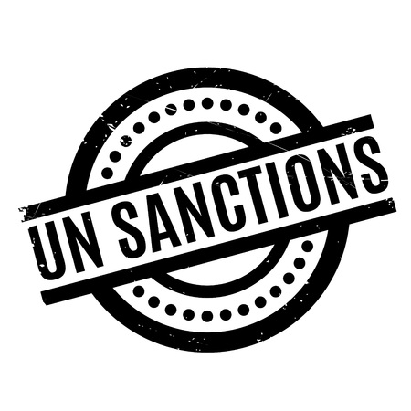 Un Sanctions rubber stamp. Grunge design with dust scratches. Effects can be easily removed for a clean, crisp look. Color is easily changed. Illustration