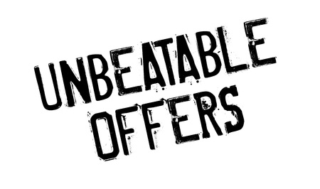 unbeatable: Unbeatable Offers rubber stamp. Grunge design with dust scratches. Effects can be easily removed for a clean, crisp look. Color is easily changed.