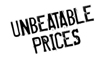 unbeatable: Unbeatable Prices rubber stamp. Grunge design with dust scratches. Effects can be easily removed for a clean, crisp look. Color is easily changed. Illustration