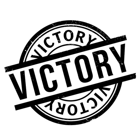 Victory rubber stamp. Grunge design with dust scratches. Effects can be easily removed for a clean, crisp look. Color is easily changed.