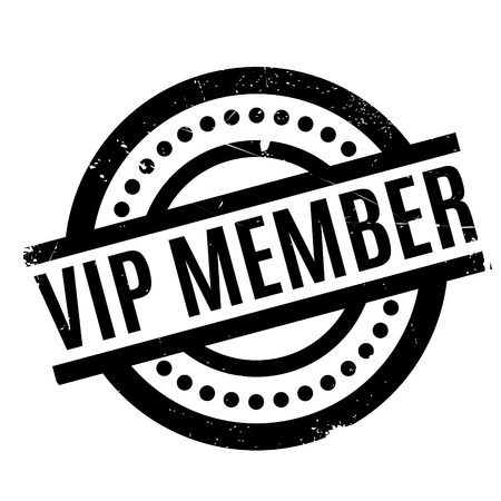 compañerismo: Vip Member rubber stamp. Grunge design with dust scratches. Effects can be easily removed for a clean, crisp look. Color is easily changed.