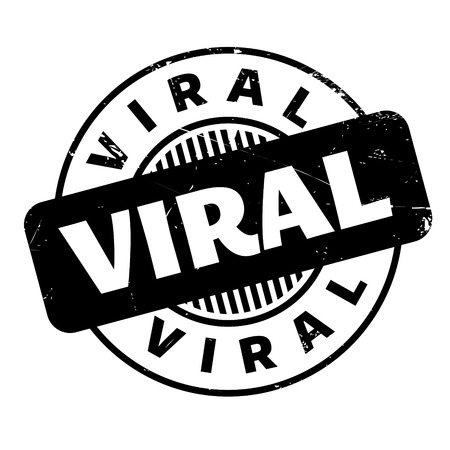 Viral rubber stamp. Grunge design with dust scratches. Effects can be easily removed for a clean, crisp look. Color is easily changed.