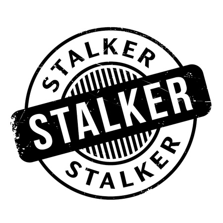 chaser: Stalker rubber stamp. Grunge design with dust scratches. Effects can be easily removed for a clean, crisp look. Color is easily changed.