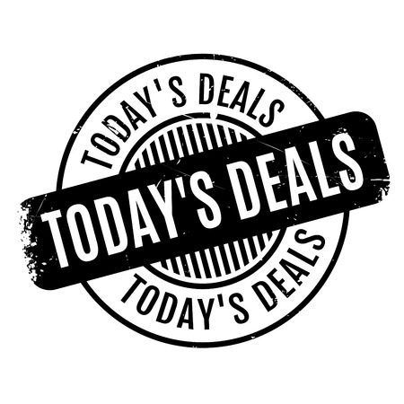 e commerce: Today s Deals rubber stamp. Grunge design with dust scratches. Effects can be easily removed for a clean, crisp look. Color is easily changed. Illustration