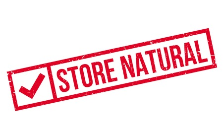 stockpile: Store Natural rubber stamp. Grunge design with dust scratches. Effects can be easily removed for a clean, crisp look. Color is easily changed. Illustration